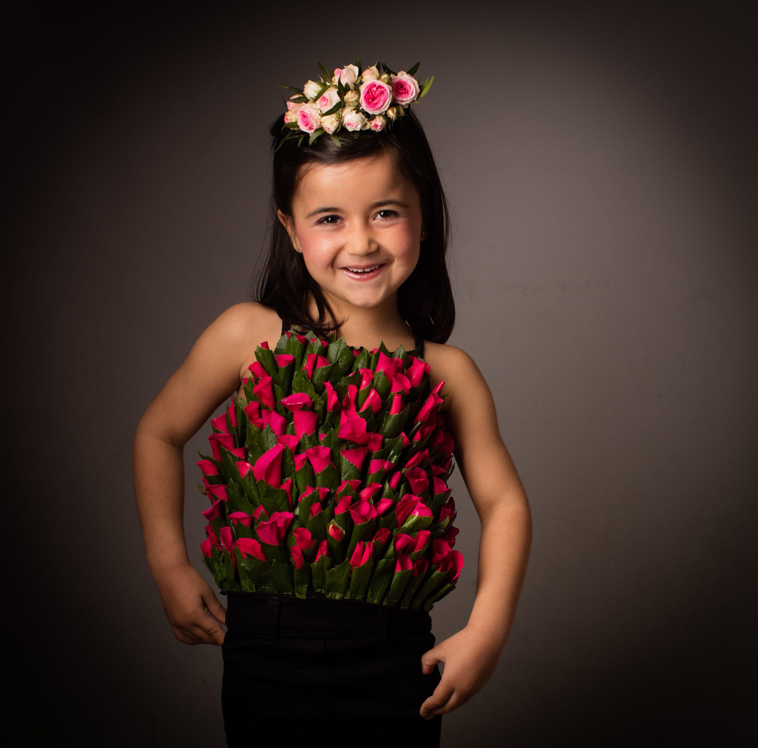 photo enfant fille 5 ans fleurs